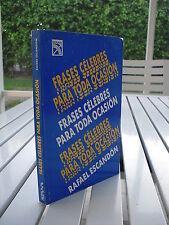 FRASES CELEBRES PARA TODA OCASION BY RAFAEL ESCANDON 1982