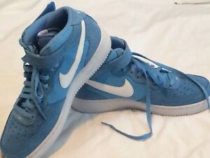 Nike Air Force 1 MID Men Basketball Shoes University Blue White ... cf44a88b8238