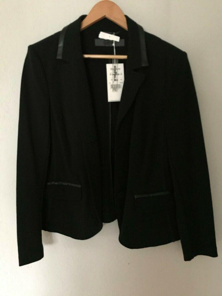 Femmes Airfield Bay-blazer Taille 44 Noir Blazer Jacket Stretch Neuf étiquette