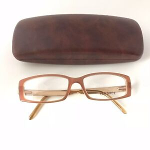 e37d430fb Image is loading New-100-Authentic-Versace-Eyeglasses-Frames-Brown-Gold-