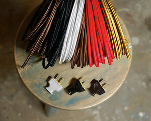Image Is Loading 8 039 Flat 2 Wire Cloth Covered Cord