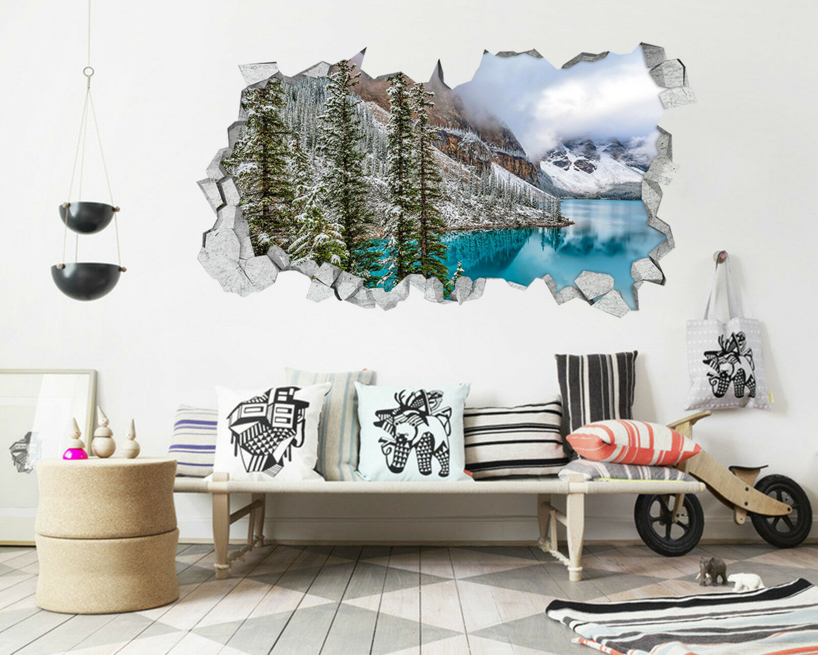3D Wald seen 522 Mauer Murals Aufklebe Decal Durchbruch AJ WALLPAPER DE Lemon