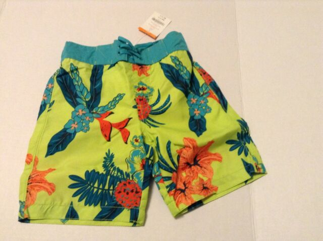 f1aeb21a65 Gymboree Swim Trunks Tropical Hawaiian Print Boys Size 4 New | eBay