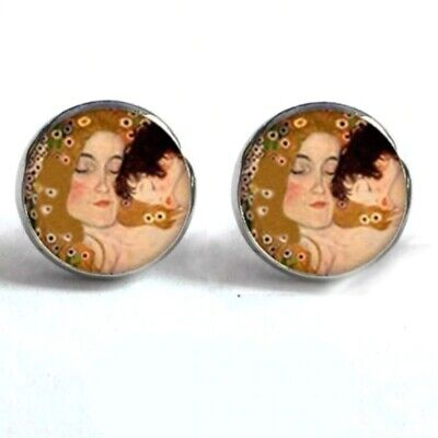 mother and child jewelry Gustav klimt ring Gustav klimt earrings Gustav klimt jewelry set
