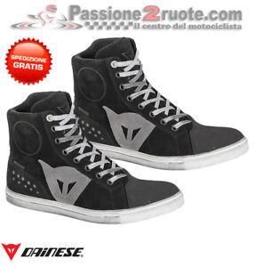 Scarpe-moto-donna-Dainese-Street-Biker-lady-WP-nero-grigio-black-gray-shoes