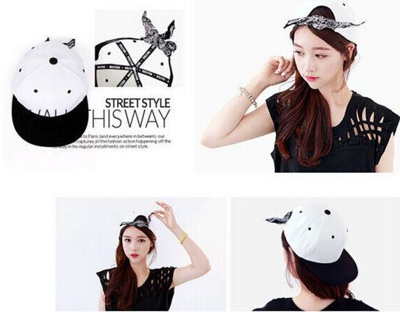 NEW White KPOP Bandanna headband Snapback Hat Men Baseball Hip Hop Bboy cap