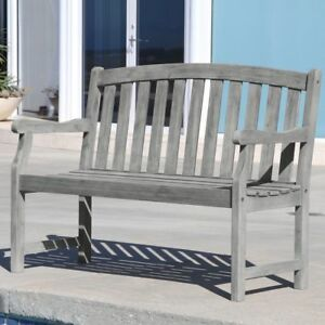Awesome Details About Patio Outdoor Garden Wooden Bench Wood W Armrest Park 4 2 3 Seats 5 3 4 Seats Dailytribune Chair Design For Home Dailytribuneorg
