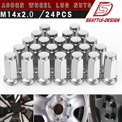 24pcs 13//16 Hex 2 Inch Chrome OEM Factory Style Large Acorn Seat Lug Nuts MIKKUPPA M14x2.0 Lug Nuts for Ford F-150 Expedition Lincoln Navigator Factory Wheels
