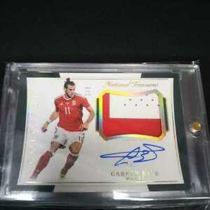 2018 Panini National treasures gareth bale Auto Patch Autograph Jersey Soccer