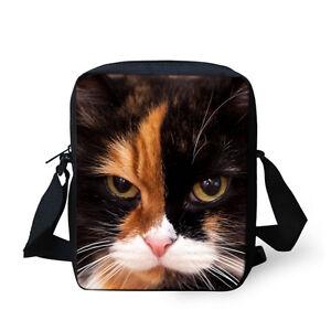 Kids Crossbody Messenger Shoulder Bag,Portrait of Domestic Cat Cute Face Baby Kitten Pet Whiskers Fluffy Feline