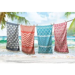 Absorbent-Woven-Hammam-Beach-Towel-100-Egyptian-Cotton-Quick-Drying-85x160cm