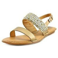 Boc By Born Costa Sandals Woven Gold Sz 6 Med