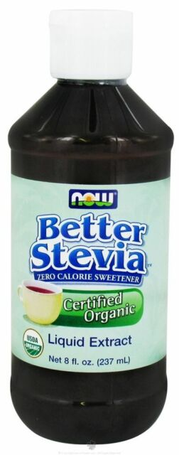 NOW Foods Certified Organic Liquid Stevia Extract 8oz formerly Non-Bitter 6/21ex