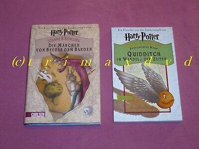 Fantasy Bücher Freundlich 2x Harry Potter_die Märchen Von Beedle Dem Barden & Quidditch Im Wandel Der Zeit Billigverkauf 50%