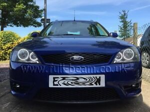 Ford-Mondeo-MK3-COB-SMD-LED-angel-eyes-headlight-kit-ST220-Titanium-X-zetec-UK