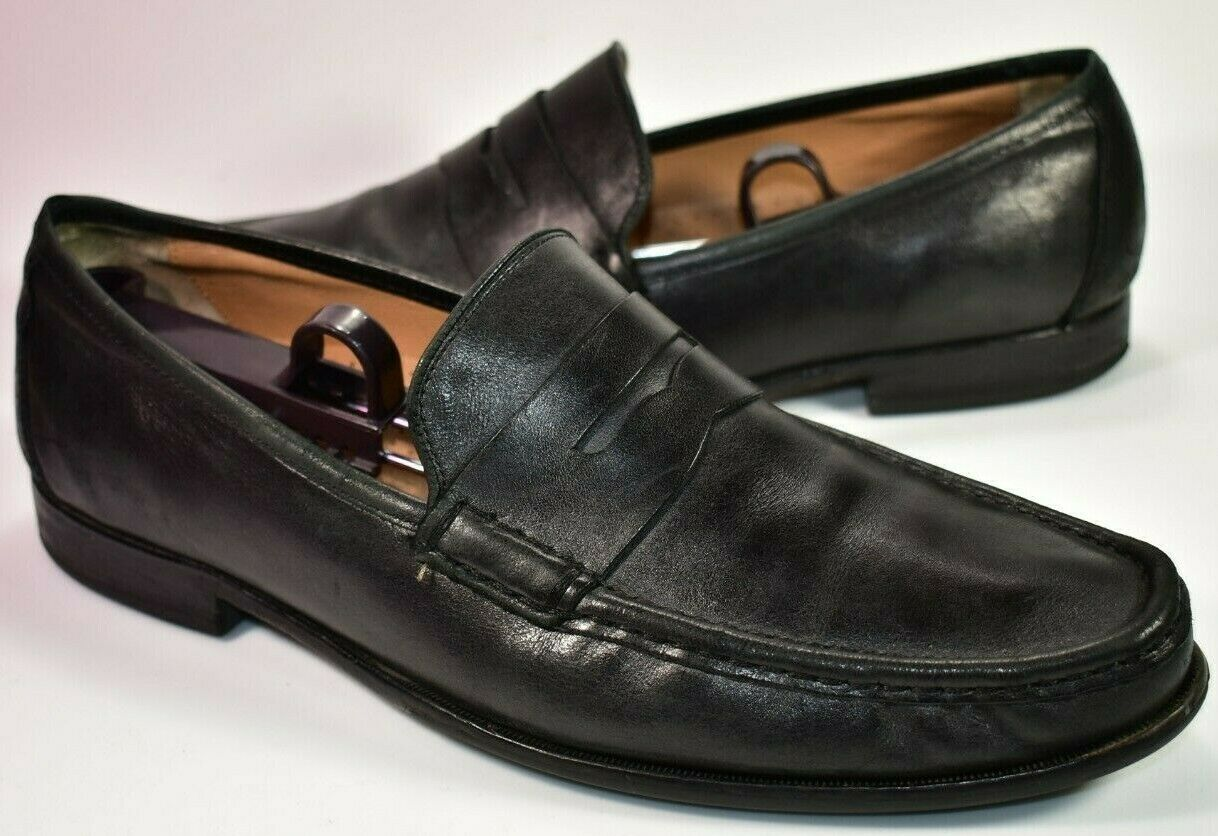Cole Haan Grand.OS Black Leather Penny Loafers Mens Size 11 M Grand OS Slip On