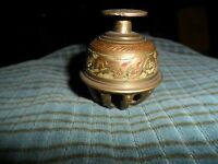"""Vintage Hand Etched BRASS CLAW BELL Ornate 2"""" Made In India"""