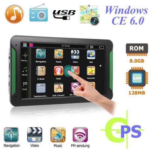 """S7 7/"""" Zoll GPS Navigation Navigator Auto LKW Navigationsgerät TOUCHSCREEN 8GB"""