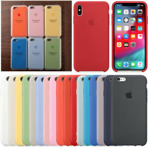 Genuina-funda-Case-de-silicona-dura-para-Apple-iPhone-XS-Max-XR-X-8-7-6S-6-Plus