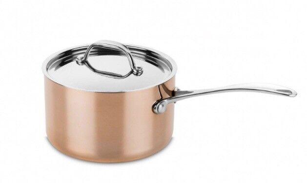 Mepra couvert cuivre Pan 16 cm avec couvercle-Toscana 1.7 QT