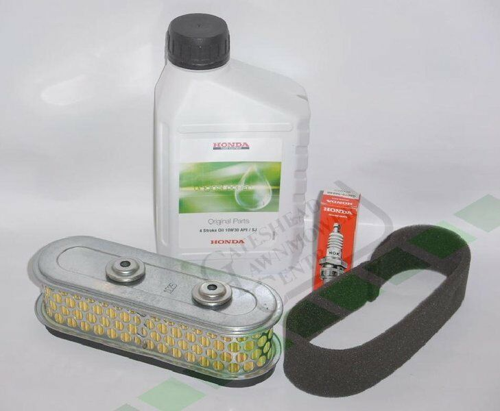 GENUINE Honda GXV160 Service Kit (Old Style) Air Filter / Spark / Plug / Oil