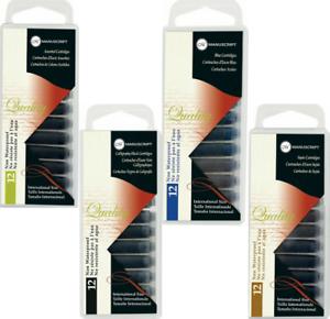 Manuscript-Fountain-Pen-Ink-Cartridges-Pack-of-12-Assorted-Black-Blue-Sepia