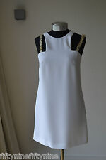 NEW AUTHENTIC VERSACE COLLECTION WHITE SHIFT  DRESS SIZE 8
