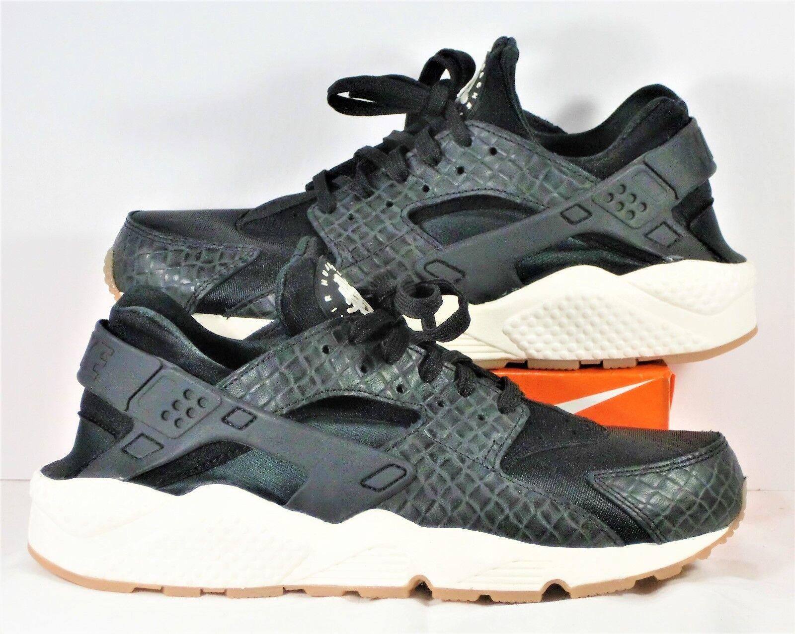 Nike Air Huarache Run Premium Black & Sail & Gum Running Sz 10.5 NEW 683818 011