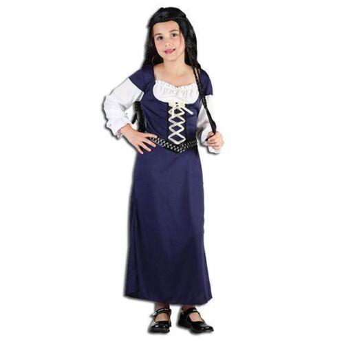 GIRLS MAID MARIAN MARION MEDIEVAL TUDOR FANCY DRESS COSTUME