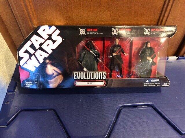 Hasbro evoluciones de Estrella Wars  los Sith 3Pk herojoado Figura De Acción