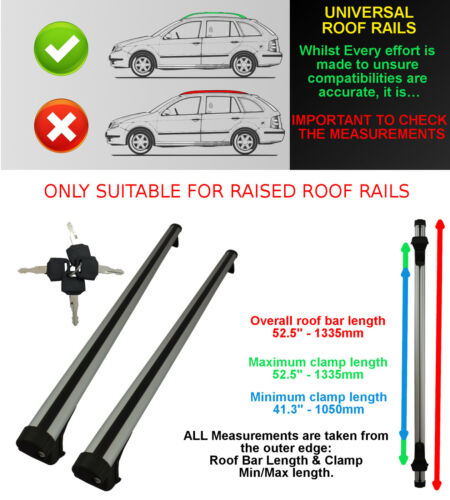 FORD UNIVERSAL ROOF BARS ROOF RAIL//RACK ESTATES SALOON OVAL