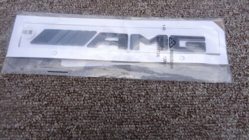 """EMBLEM MERCEDES-BENZ AMG AMG-ROADSTER GENUINE """"AMG"""" REAR BOOT 3D BLACK BADGE"""