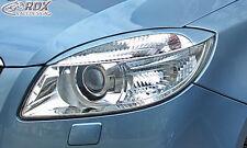 RDX Scheinwerferblenden SKODA Fabia 2 / 5J & Roomster Böser Blick Spoiler Tuning