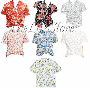 Polo-Ralph-Lauren-Denim-amp-Supply-Mens-Floral-Short-Sleeve-Button-Down-Shirt-New
