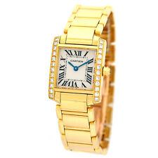 CARTIER 18K Yellow Gold Tank Francaise Factory Diamonds we1001r8 Retail $31,200