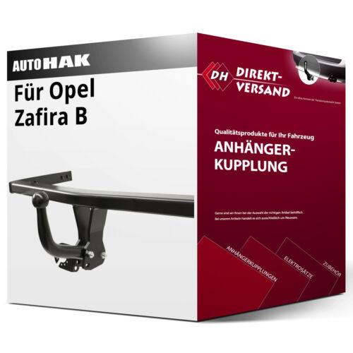 Auto Hak Opel Zafira B Typ A05 Anhängerkupplung starr inkl EBA top neu