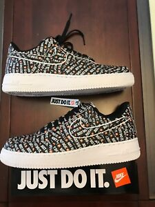 Details about Men's New Nike Air Force 1 Low '07 LV8 'Just Do It' AO6296 001 Size 9.5