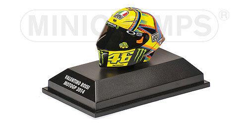 1 8 AGV Minichamps Valentino Rossi Helmet Casco MotoGP 2014 398140046 NEW