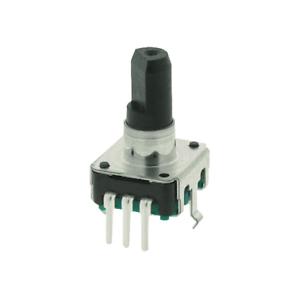 ALPS STEC12E08 Rotary Encoder With 6mm D-plastic Shaft Vertical with Switch