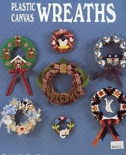 Plastic Canvas Wreaths 17 Designs Cat School Halloween Christmas PATTERN LEAFLET