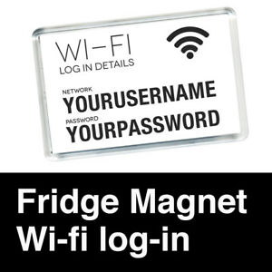 FRIDGE-MAGNET-CUSTOM-PERSONALISED-WITH-WI-FI-DETAILS-ACRYLIC-70mm-x-45mm