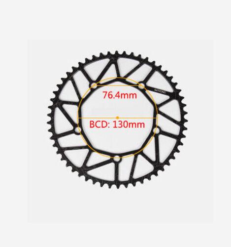 Hollow 130bcd Bike Crankset 170mm Crank set alloy chainring 50-58t Disc