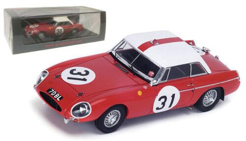 Spark S4136 MG B Hardtop #31 12th Le Mans 1963-Hopkirk//Hutcheson 1//43 Escala