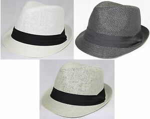 TRILBY-HAT-NEW-Paperstring-58cm-Adult-unisex-mens-ladies-dance-formal-wedding