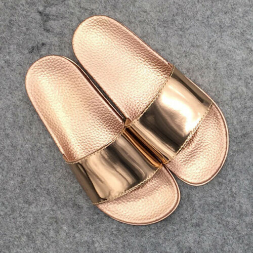 Femme Chaussons Casual Antidérapage Sandales Plates Tongs Bling Plage Femmes