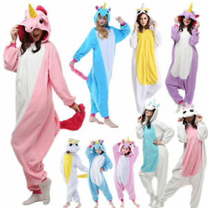 ba1550dc5c Das Bild wird geladen Jumpsuit-Onesie-Damen-Herren -Erwachsene-Kostuem-Anzug-Pyjama-