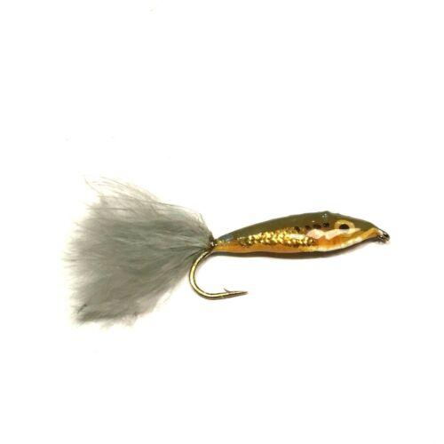 6 x Epoxy Shad Streamer Fly Fishing Flies For Salmon Steelhead /& Trout