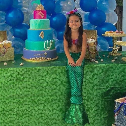 Toddler Kid Baby Girls Swimsuit Swimwear Bathing Mermaid Bikini Costume 3pcs Set