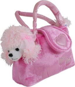 Dettagli su Barboncino peluche con borsa, borsetta per bambinaragazza