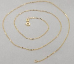 Real-18K-SOLID-YELLOW-GOLD-NECKLACE-O-shaped-chain-Clavicular-chain